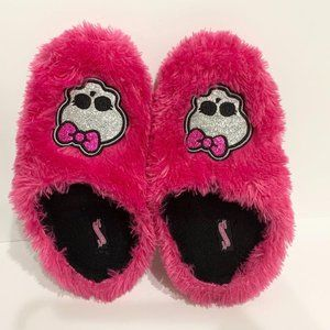 Monster High fuzzy slippers pink 4 5 XL extra larg